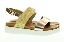 INUOVO scarpe shoes sandali con zeppa donna woman 6207 beige bronzo n° 38