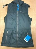 Columbia Women's Cedar Express II Water Resistant Hooded Teal Vest Size Small