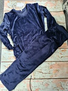 Sheego Hausanzug Jogginganzug Nicki Damen blau große Größen NEU (853)