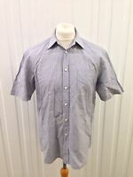 """Mens M&S Collezione Shirt - 15.5"""" - Short Sleeved - Linen Blend Great Condition"""