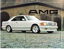 Vintage 1984 Mercedes-Benz AMG Catalog Katalog Catalogue SEC 500 SEL 190E SL