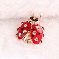 New Antique On Rhinestone Women Jewelry Ladybug Brooches Fashionable