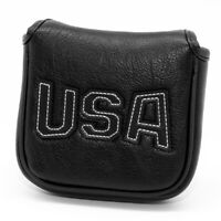 Putter Mallet Cover Headcover,Magnetic Square Golf Head Cover Black fits Scotty