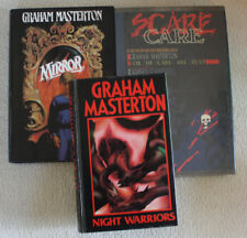 GRAHAM MASTERTON Hardcover LOT of 3 BOOKS Mirror Night Warrior HORROR Scare Care