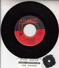 """LED ZEPPELIN  D'yer Mak'er & The Crunge 7"""" 45 rpm record + juke box strip NEW"""