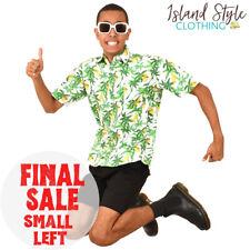 Pineapple Party Mens Hawaiian Shirt Cotton Button Up