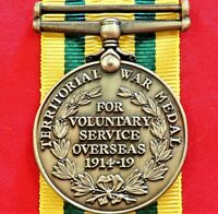 *WW1 BRITISH ARMY TERRITORIAL FORCES WAR MEDAL REPLICA RESERVE HOME FRONT