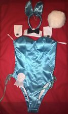 11pc. $2400 NOS LE SEXY COSPLAY AQUA BLUE Playboy Bunny costume + accessories