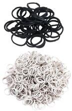 Mähnengummi schwarz oder weiß 800 Stück in Box Einflechtgummi