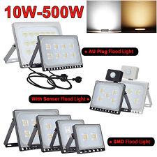 LED Flood Light 10W 20W 30W 50W 100W PIR Motion Sensor/AU Plug Floodlight 240V