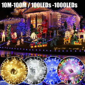 100-300 LED Mains Fairy String Lights Christmas Tree Party Outdoor Garden Lights