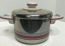 Vintage Mid Century Fissler W Germany Stainless Steel 2 QT Pot Carina Lid Handle