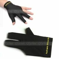 Black Spandex Snooker Billiard Cue Glove Pool Left Hand Three Finger Xmas