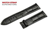 Black Fits ROTARY Watch Strap Band Genuine Leather 18-24mm For Buckle Clasp