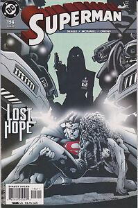 SUPERMAN - DC #194 Comic Book