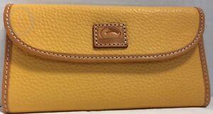 *Dooney & Bourke*Patterson Leather*Dandelion* Continental Clutch Wallet 17292Q