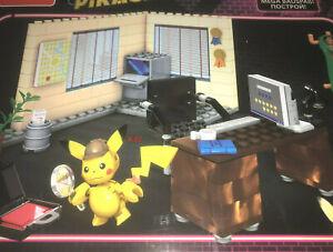 POKEMON Detective Pikachu Mega Construx Office building figure toy 183 pc GGK26
