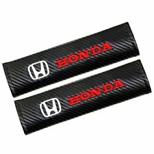 2XCarbon Fiber Leather Car Seat belt Cover Shoulder Pads Truck Cover for Honda