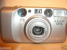 MINOLTA ZOOM 125 35MM FILM CAMERA~METAL BODY~37.5-125MM ASPHERICAL LENS (MY33)