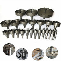 Carbide Tip TCT Hole Saw Cutter Drill Bit For HSS Steel Metal Alloy 15-50mm New