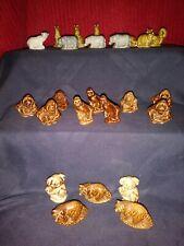 Red Rose Tea Wade Figurines Lot Of 24 Pieces. Koala Bear, Kangaroos, Rhino, Etc