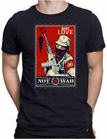 Make Love Not War Herren Fun T-Shirt - Stop Krieg Liebe Peace Frieden - PAPAYANA