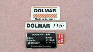 Aufklebersatz für Dolmar 115i Motorsäge