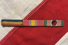 Korean War USMC Navy Mounted 3 Ribbon Bar Set PUC National Defense ROK Service