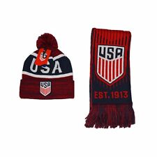 Team USA Soccer Scarf + Beanie US Soccer Authentic Official Winter USMNT