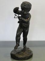 """Bronzefigur """" musizierender Putto """",nach Claude-Michel Clodion,um 1800"""
