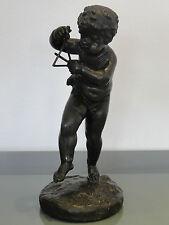 """Bronzefigur """" musizierender Putto """" , nach Claude-Michel Clodion ,um 1800"""