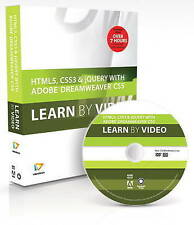 USED (GD) HTML5, CSS3, and jQuery with Adobe Dreamweaver CS5.5 Learn by Video