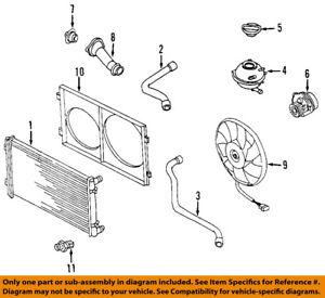 AUDI OEM 00-06 TT Quattro-Engine Coolant Thermostat 050121113C
