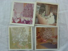 Lot of 4 Vintage Photos 3.5x3.5 Christmas Tree 828