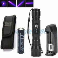 WF-501B UltraFire UV 395NM Flashlight Torch Purple Light + 18650 Battery Charger