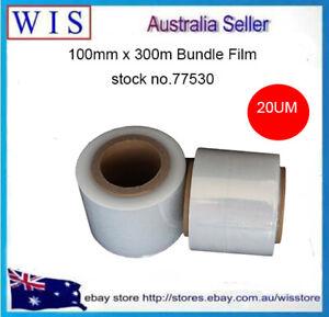 "100mm x300m 20um Clear Bundling Film Hand Stretch Film,76mm(3"") Core-77530"