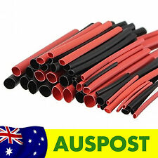 Aus3D Heat Shrink Pack - 42 Pieces Red and Black - 2:1 Tubing Heatshrink Kit