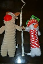 New listing Christmas Dog Toys Lot of 2 Reindeer Holiday Snowman New Nwt Lot #1