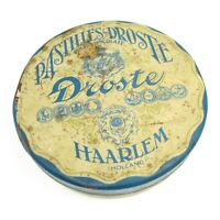 Vintage Pastilles Droste Haarlem Holland Tin Chocolate Empty Box