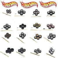 Hot Wheels EZPZ 1:64 Real Riders Wheels/Rubber Tires/Axles 1 Car Kit Set - Loose
