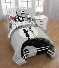 Gray Black Nightmare Christmas Jack Sally 7 pc Comforter Set Twin Full Queen Bed