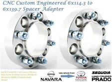 Cusom Wheel Spacer Adapters 35 mm 6x114.3 to 6x139.7 Navara 66.1 mm 2PCS