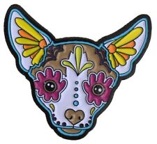 Chihuahua Sugar Skull Dog Enamel Pin Lapel Bag New Cali Pretty In Ink