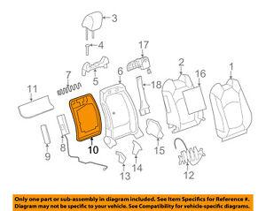 GM OEM Front Seat-Seat Back Panel Trim 20845942