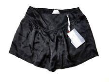 GIADA FORTE NWT $225 Black Nero Shining Satin Shorts Sz 1 / S