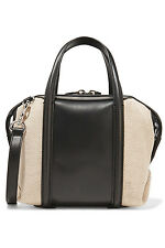 NWT Alexander Wang Emile Mini Leather and Canvas Satchel Crossbody Bag+free gift