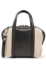 NWT Alexander Wang Emile Mini Leather and Canvas Satchel Crossbody Bag+free gift