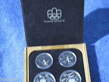 1976 Canada Series 4 Olympic Four Coin Silver Proof Set with Maple Case E0273