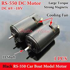 DC6V-18V 12V High Speed Large Torque Strong Magnetic RS-550 Motor Car Boat Model
