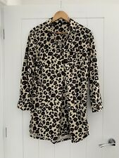 Next Leopard Print Night Shirt Size S